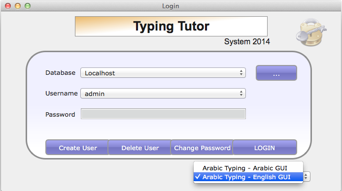 Arabic Typing Tutor Pro Screen shot